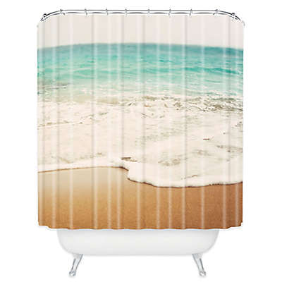 Deny Designs Bree Madden Ombre Beach Shower Curtain in White