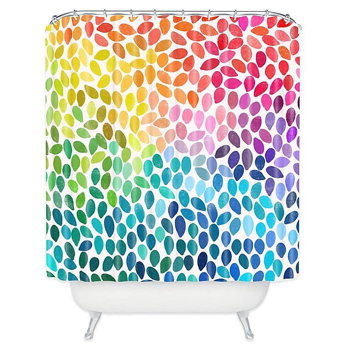 Alternate image 1 for DENY Designs Garima Dhawan Rain 11 Shower Curtain in Blue