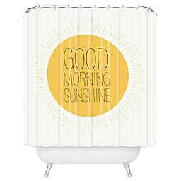 Deny Designs Allyson Johnson Morning Sunshine Shower Curtain in Yellow