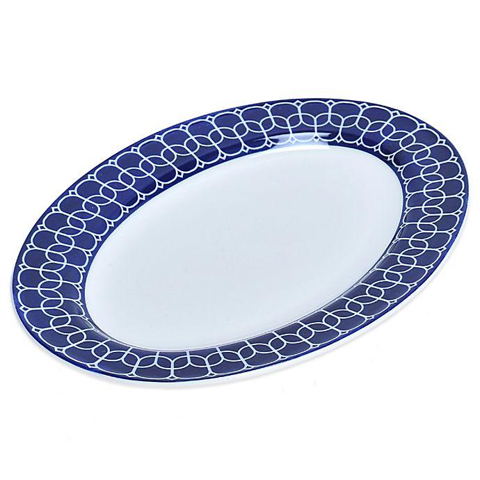 Alternate image 1 for Mikasa® Lavina Oval Platter in Cobalt