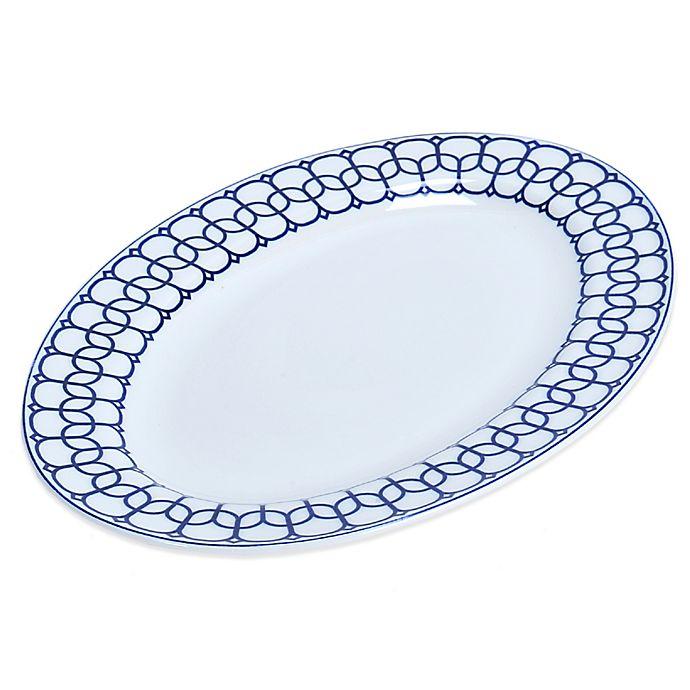 Alternate image 1 for Mikasa® Lavina Oval Platter in White