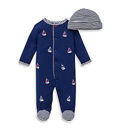 Little Me® 2-Piece Sailboats Footie and Hat Set