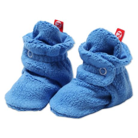 abfd4fa61c2c Zutano Cozie Fleece Booties in Periwinkle