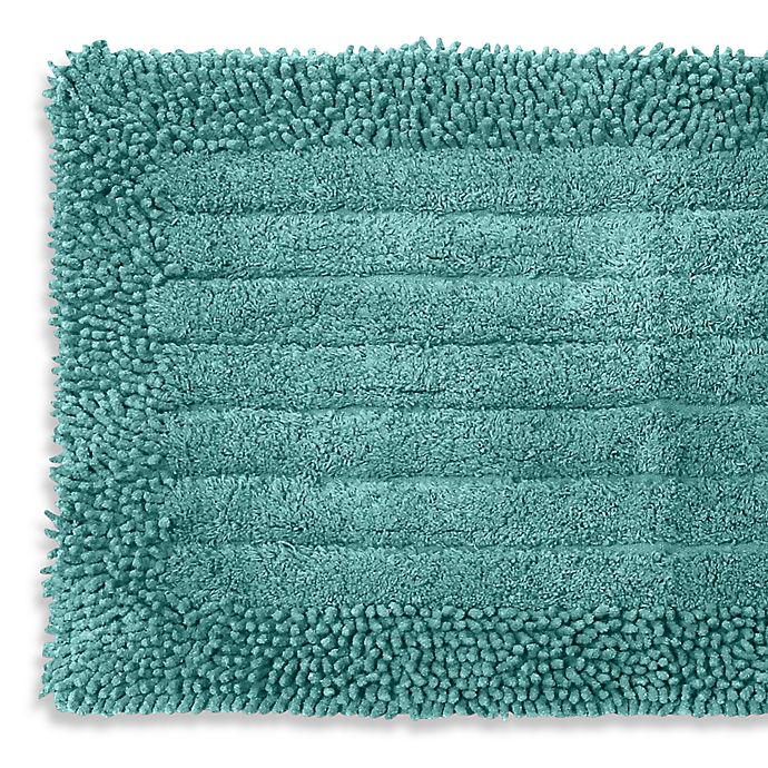 Buy Pam Grace Creations Chenille Bath Rug In Aqua From Bed
