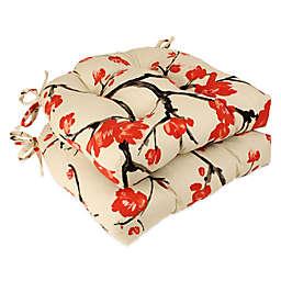 Flowering Branch Reversible Chair Pads (Set of 2)