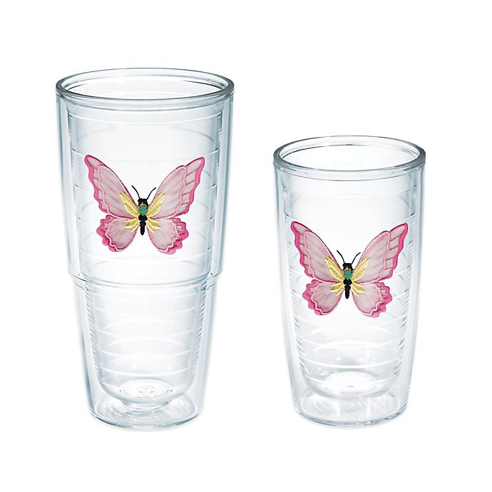 Alternate image 1 for Tervis® All Flutter Butterfly Tumbler in Pink