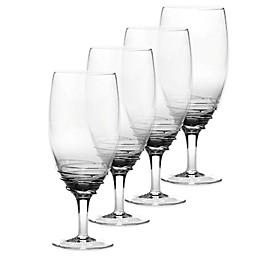 Mikasa® Swirl Iced Beverage Glasses in Smoke (Set of 4)