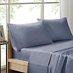 Sleep Philosophy Liquid Cotton Queen Sheet Set in Blue
