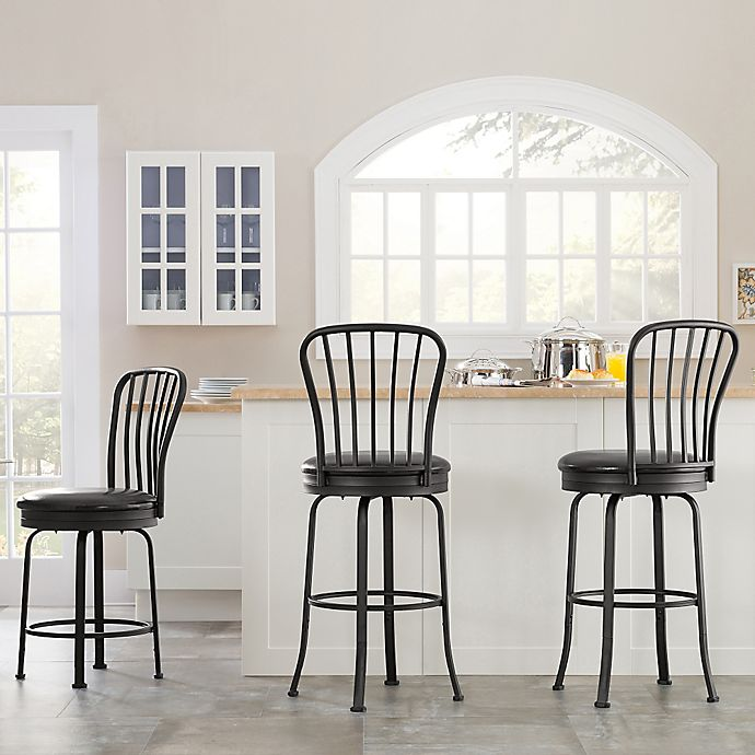Windsor Style Bar Stool Set Of 3 Bed Bath Amp Beyond