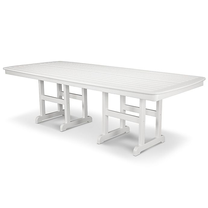 Alternate image 1 for POLYWOOD® Nautical 96-Inch Rectangular Dining Table in White