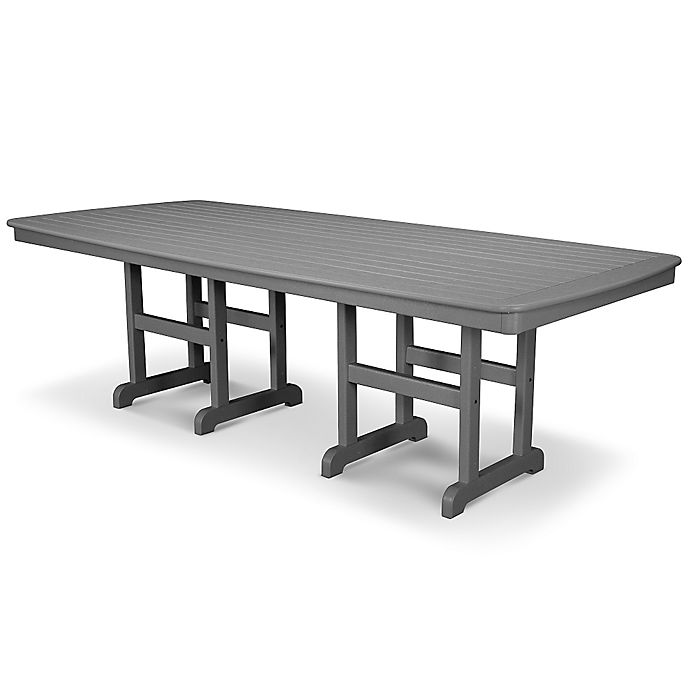 Alternate image 1 for POLYWOOD® Nautical 96-Inch Rectangular Dining Table in Slate Grey