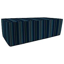 Stripe 25-Inch x 50-Inch Outdoor Pouf/Ottoman-Boxed in Sunbrella® Fabric
