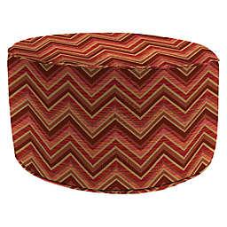 Print 24-Inch Outdoor Round Ottoman in Sunbrella® Fabric