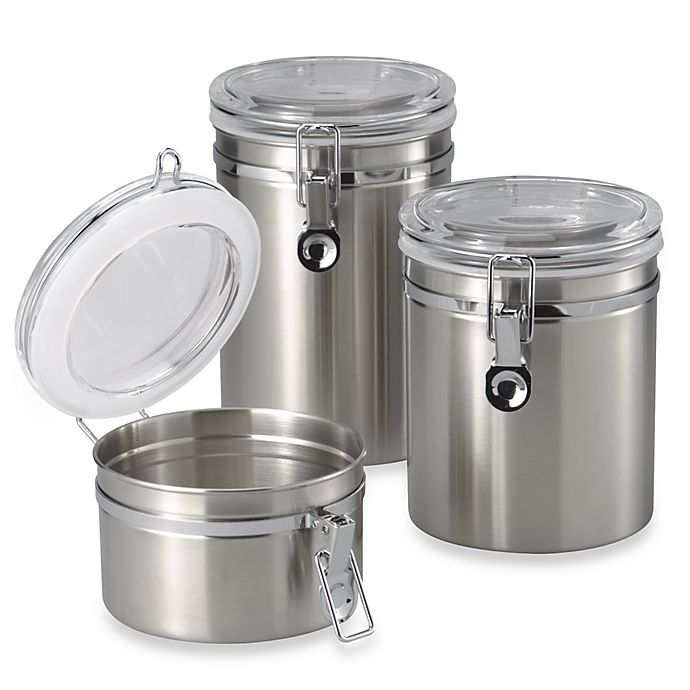 Alternate image 1 for SALT™ Brushed Stainless Steel Canister
