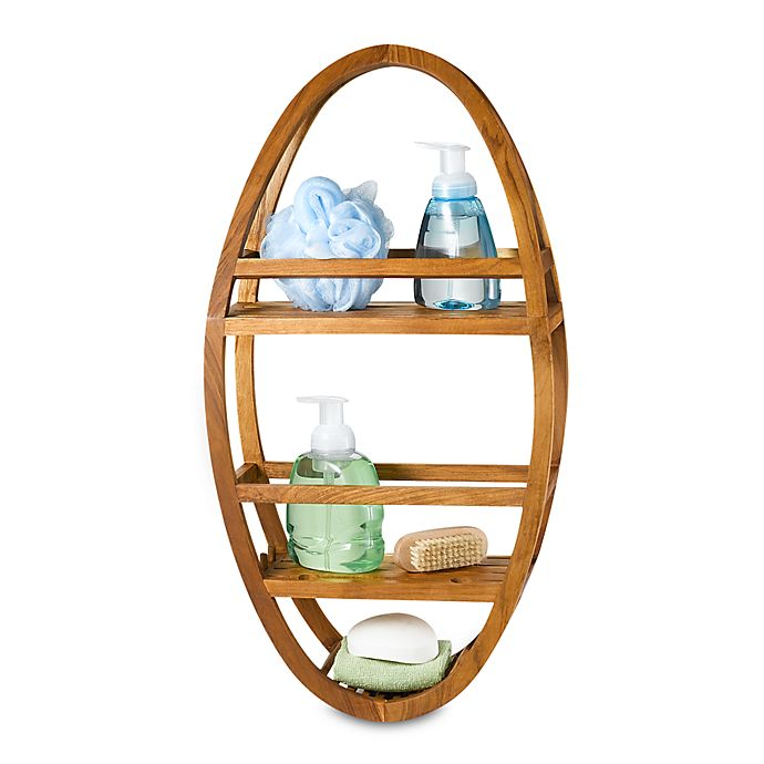 Alternate image 1 for Teak Shower Caddy™