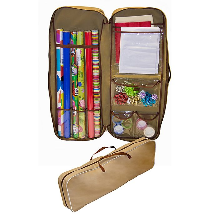 Alternate image 1 for Master Craft Gift Wrap Storage Bag in Tan