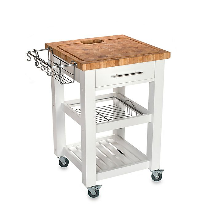 Alternate image 1 for Chris & Chris Pro Chef 24-Inch Square Kitchen Island Work Station in White