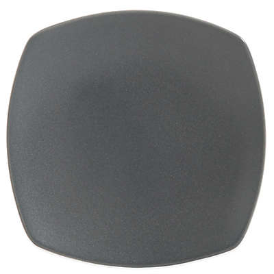 Gibson Paradiso Square Dessert Plate in Grey