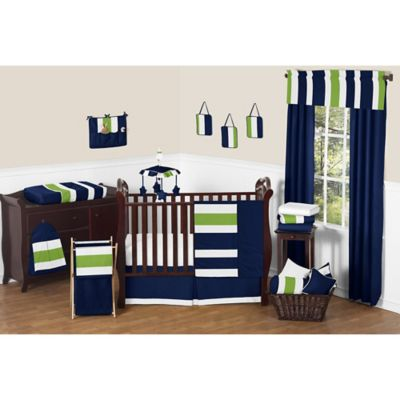 Lime Stripe Crib Bedding Collection