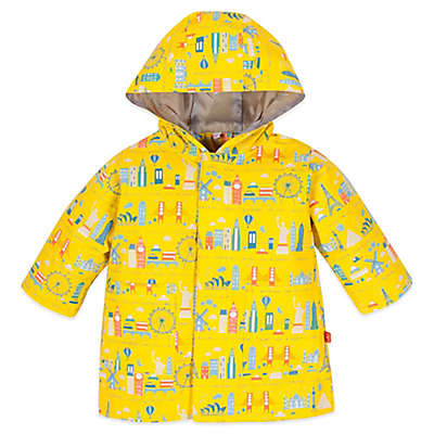 Magnificent Baby® World Cities Print Smart Close™ Raincoat in Yellow