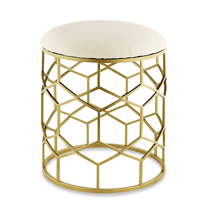Alternate image 1 for Taymor® Reign Vanity Stool in Gold