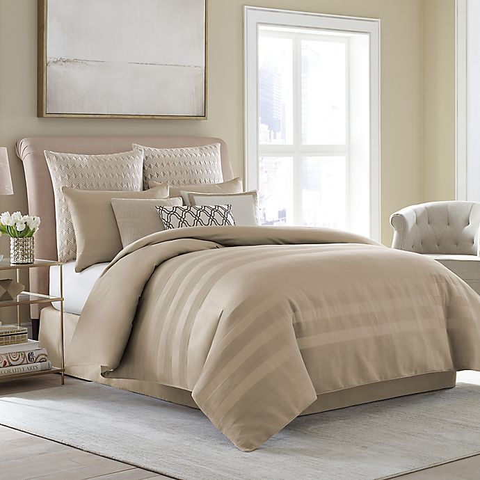 Alternate image 1 for Wamsutta® Joliet Duvet Cover Set in Caramel