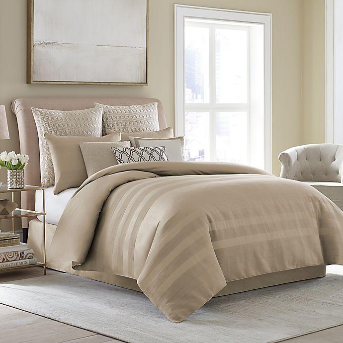 Alternate image 1 for Wamsutta® Joliet Duvet Cover Set in Caramel