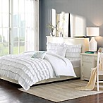 Intelligent Design Waterfall Reversible 4-Piece Twin/Twin XL Comforter Set in White