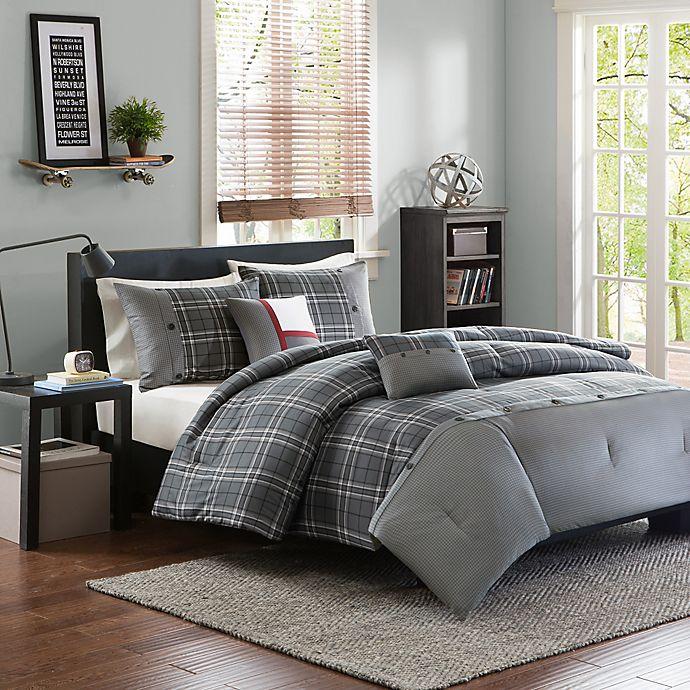 Alternate image 1 for Intelligent Design Daryl 4-Piece Twin/Twin XL Comforter Set in Grey