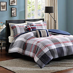 Intelligent Design Caleb Comforter Set in Blue