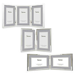 siena silver plated narrow border plain picture frame