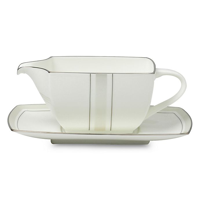 Alternate image 1 for Platinum Matrix Gravy Boat with Stand