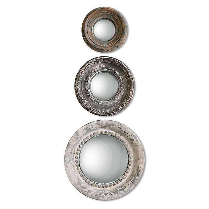View A Larger Version Of This Product Image Click To Zoom Alternate 1 For Uttermost Adelfia 3 Piece Round Wall Mirror Set