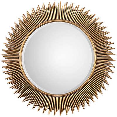 Uttermost Marlo Round Mirror in Gold