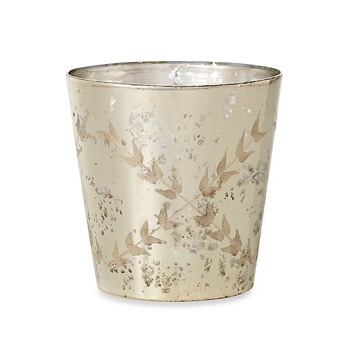 10-Inch Etched Mercury Glass Vase | Bed Bath & Beyond