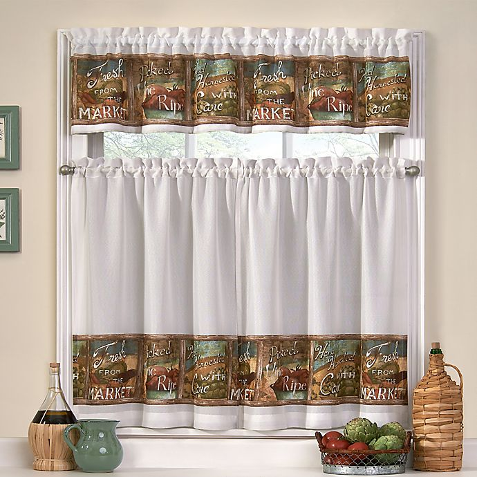 Buy From The Market Window Curtain Tier Pair And Valance