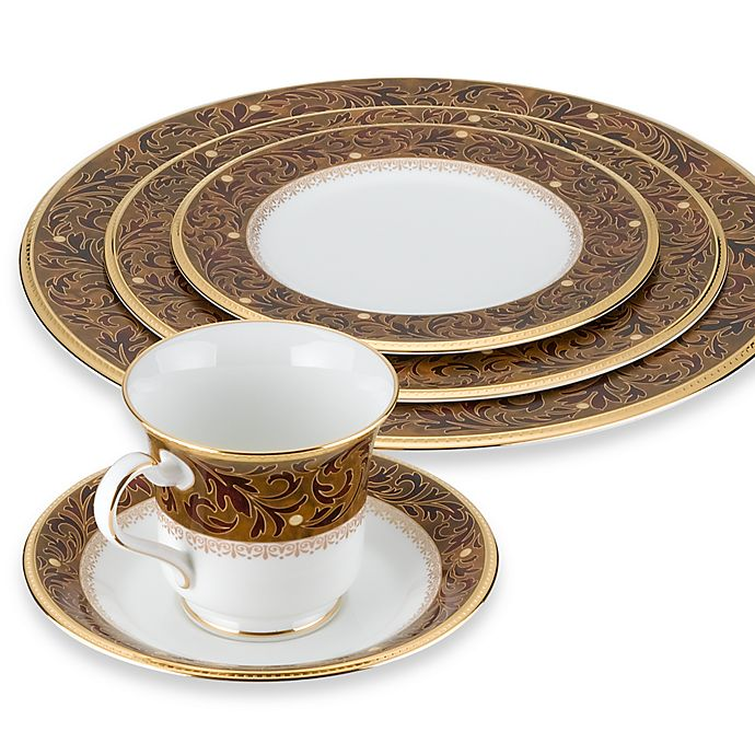 Alternate image 1 for Noritake® Xavier Gold Dinnerware Collection