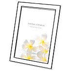 Swing Design™ Lura 5-Inch x 7-Inch Picture Frame in White/Silver