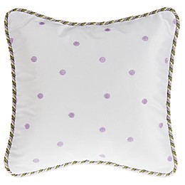 Glenna Jean Penelope Dot Throw Pillow in Lavender
