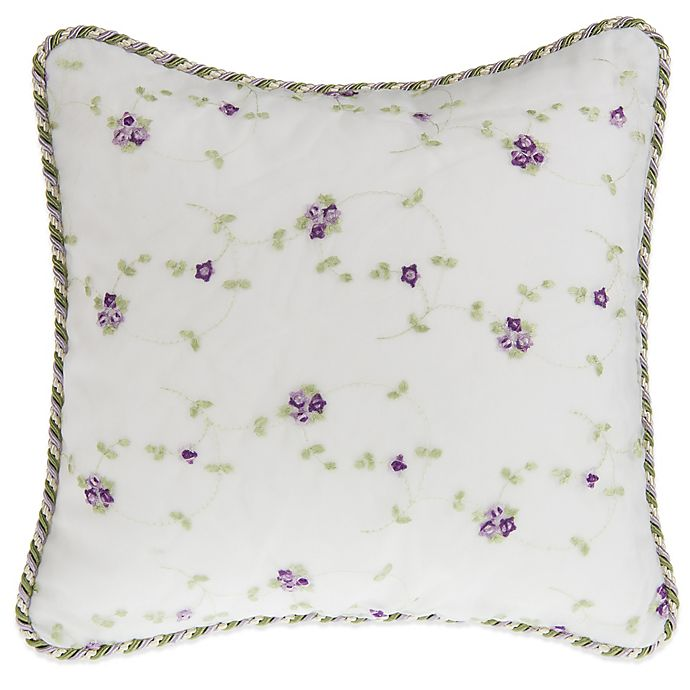 Alternate image 1 for Glenna Jean Penelope Floral Embroidered Throw Pillow