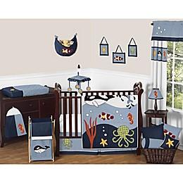 Sweet Jojo Designs Ocean Blue Crib Bedding Collection