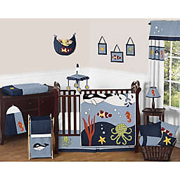 Sweet Jojo Designs Ocean Blue Crib Bedding Collection