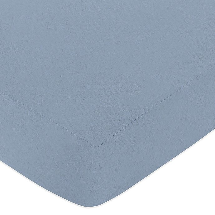 Alternate image 1 for Sweet Jojo Designs Ocean Blue Fitted Crib Sheet in Blue