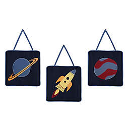Sweet Jojo Designs® Space Galaxy Wall Décor (Set of 3)