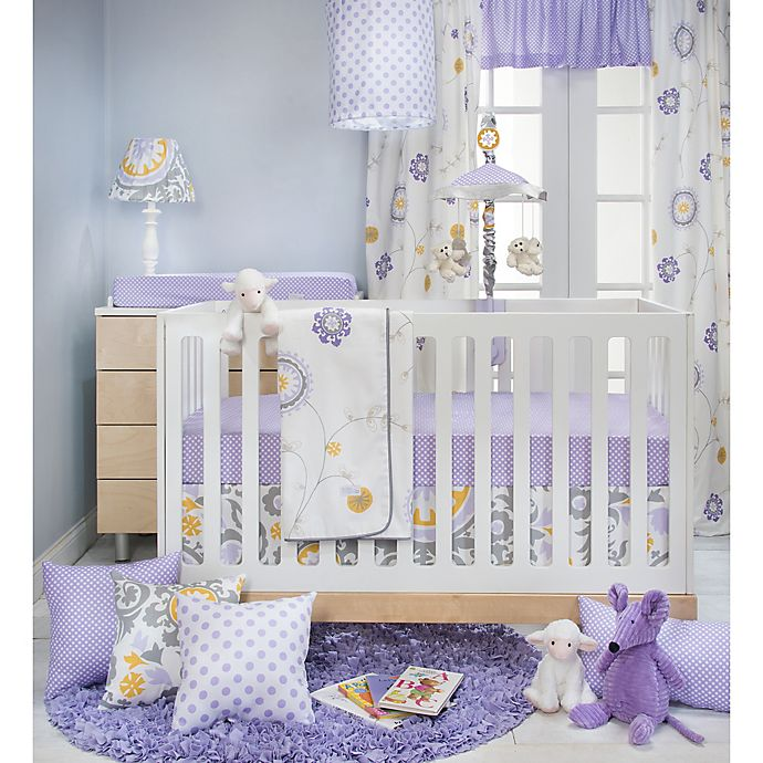Alternate image 1 for Glenna Jean Fiona Crib Bedding Collection in White/Purple