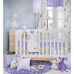 Glenna Jean Fiona Crib Bedding Collection in White/Purple