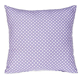 Glenna Jean Fiona Micro Dot Square Throw Pillow in White/Purple