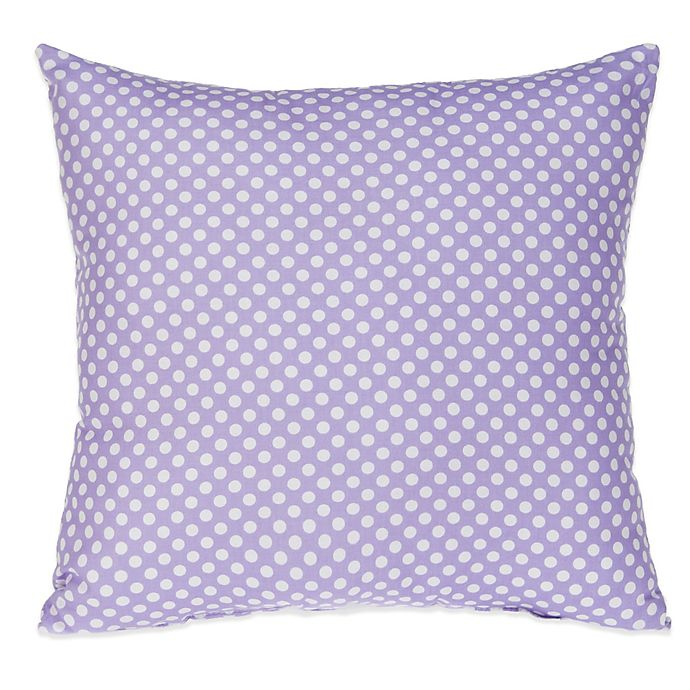 Alternate image 1 for Glenna Jean Fiona Micro Dot Square Throw Pillow in White/Purple