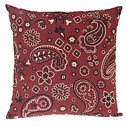Glenna Jean Happy Trails Bandana Throw Pillow