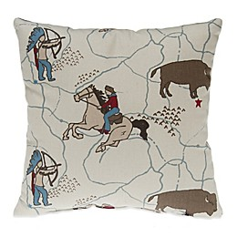 Glenna Jean Happy Trails Cowboy Print Throw Pillow